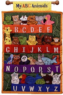 My ABC Animals Cloth Wall Hanging with Finger Puppets