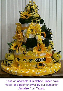Baby Shower Bee Cake By Annalee