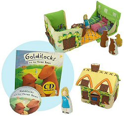 Goldilocks and the Three Bears Cloth Playset