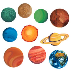 Cut Outs of Our Planets - Pics about space
