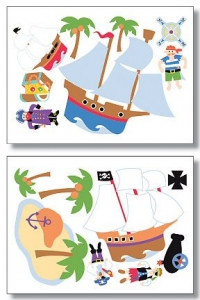 Olive Kids Pirates Wallies Big Mural Wallpaper Cutouts