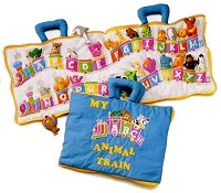 ABC Animal Train Cloth Playset by Pockets of Learning