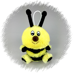 Speller Bumblebee Cushy Stuffed Animal by Purr-Fection by MJC