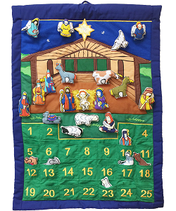 Nativity Manger Advent Calendar by Pockets of Learning