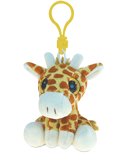 Giraffe Big Eyes Plush Backpack Clip Stuffed Animal by Puzzled