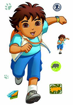Go Diego Go RoomMates Giant Wall Decal