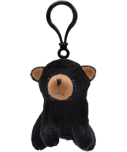 Black Bear Wildlife Plush Clip-On Stuffed Animal by Unipak