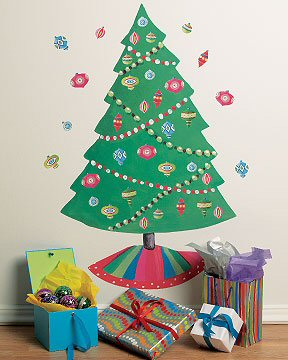 Christmas Tree Holiday Wallies Giant Wall Decal