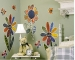 Jenny's Flowers & Bugs Wallies Mural Wallpaper Cutouts Room View