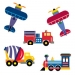 Olive Kids Trains, Planes and Trucks Wallies Mural Wallpaper Cutouts