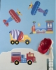 Olive Kids Trains, Planes and Trucks Wallies Mural Wallpaper Cutouts Room View