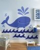 Whimsical Whale Wallies Big Mural Wallpaper Cutouts Room View
