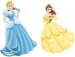 Cinderella & Belle Giant Wall Decals