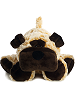 Howler Dog Funny Bones Stuffed Animal by Aurora World (Lying Down; Paws Front; Front View)