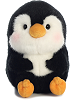 Peewee Penguin Rolly Pets Stuffed Animal by Aurora World (Front View)