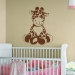 Giraffe Sudden Shadows Giant Wall Decal Room View