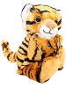 Tiger CK Huggers Stuffed Animal by Wild Republic (Arms Closed)