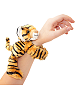 Tiger CK Huggers Stuffed Animal by Wild Republic (on Wrist)
