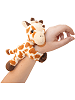 Giraffe CK Huggers Stuffed Animal by Wild Republic (on Wrist)