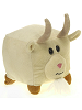 Square Goat (Small) The New Round Plush Animal by Fiesta