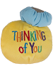 Thinking of You Smiley Face Tossimals Plush by Ganz (Back)