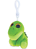 Dinosaur (Green) Big Eyes Plush Backpack Clip Stuffed Animal by Puzzled