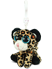 Leopard (Brown) Big Eyes Plush Backpack Clip Stuffed Animal by Puzzled