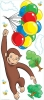 Curious George RoomMates Giant Wall Decal Sheet