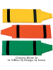 Fabric Wall Art Crayons shown in : 12 Yellow, 15 Orange, 14 Green