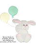 Fabric Wall Art Bunny shown in #39 White & #31f Pink with Balloons in #32 Lemon & #37 Sea Foam