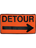 Detour Sign Fabric Wall Art