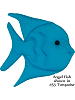 Fabric Wall Art Angel Fish shown in #53 Turquoise