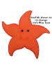 Starfish Fabric Wall Art shown in #15 Orange with Blue Eyes