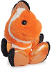 Fins Clown Fish Taddle Toes Plush Animal by Aurora (Rotated View)