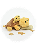 Big Eyes Mom & Baby Turtle (Yellow) Stuffed Animals by Unipak