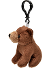 Brown Bear Wildlife Plush Clip-On Stuffed Animal by Unipak