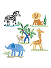 Jenny's Safari Wallies Wallpaper Cutouts