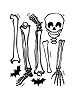 Skeleton Giant Wall Decals Sheet A