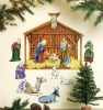 Nativity Giant Wall Decals Room View