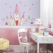 Princess Castle RoomMates Giant Wall Decal Set Room View