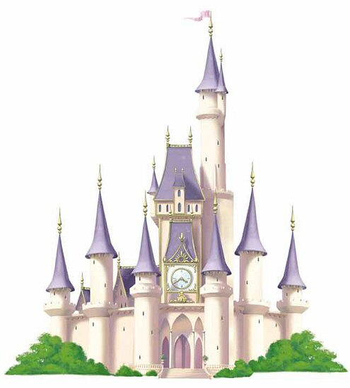 Princess castle disney giant wall decal for Fairy castle mural