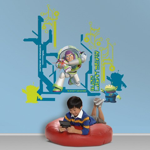 Toy story buzz lightyear giant wall decals wall stickers for Buzz lightyear wall mural
