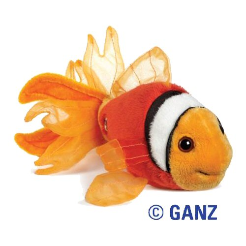 Lil 39 kinz tomato clown fish webkinz stuffed animal by ganz for Fish stuffed animal