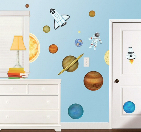 In Outer Space RoomFx Wall Decals Room View