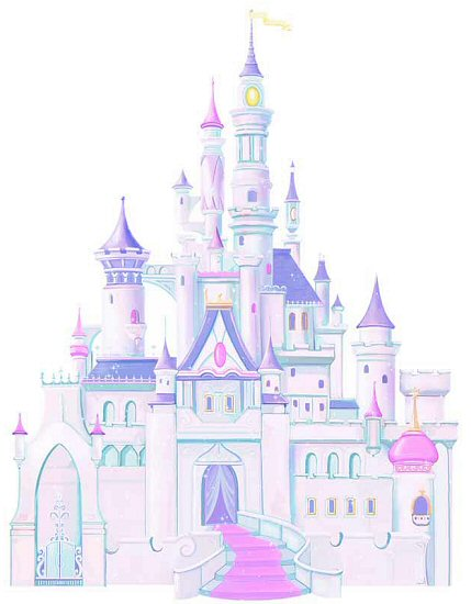 disney princess castle roommates giant wall decal