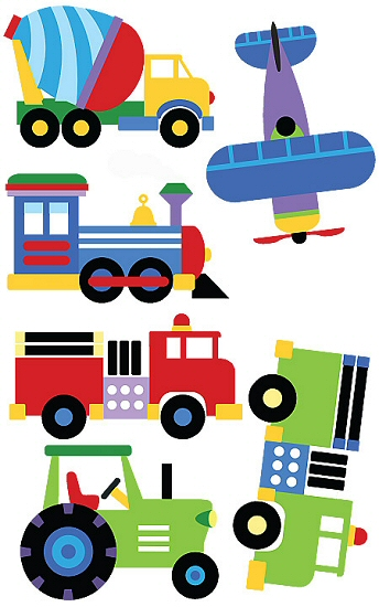 Olive Kids Trains Planes Amp Trucks Wall Art Wall Decals