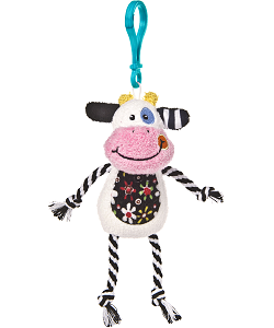 Cheery Clips Cow Backpack Clip Stuffed Animal