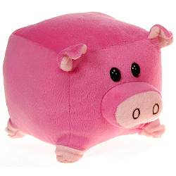 Square Pig (Small) The New Round Stuffed Animal