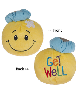 Get Well Smiley Face Tossimals Plush