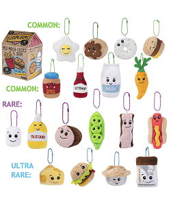 Blind Box (Mystery) Series One Scrumchums Plush Food Keychain